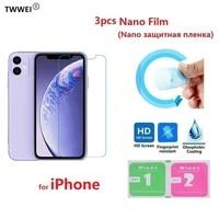 Nano película protectora para el iPhone 11 Pro Max 8 7 6 6s Plus 5 SE 5 S iPhone XR X XS Max (no vidrio) película protectora de pantalla LCD
