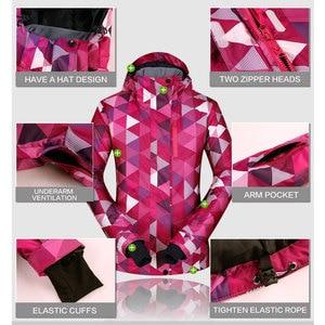 Image 2 - Kombinezon narciarski zestaw damski wiatroszczelna wodoodporna ciepła kurtka narciarska spodnie narciarskie odzież zimowa narciarstwo i kombinezony snowboardowe marki
