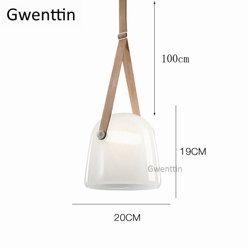 Image 5 - Modern Mona Glass Pendant Lights Led Belt Hanging Lamp for Living Room Bedroom Kitchen Fixtures Suspension Luminaire Home Decor-in Pendant Lights from Lights & Lighting