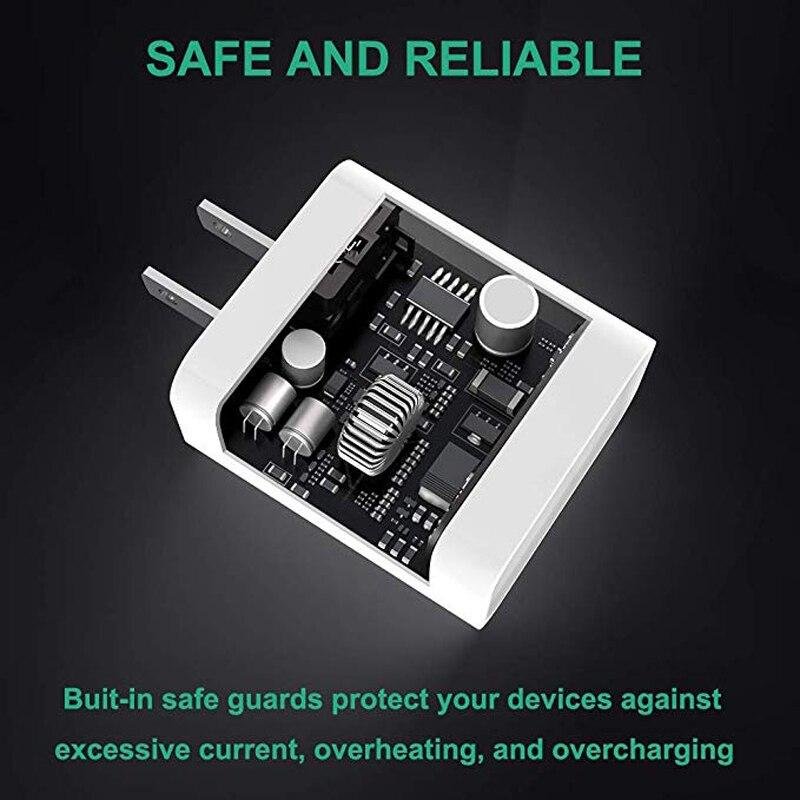Сетевое зарядное устройство с USB Type-C, 18 Вт, для iPhone 11 Pro/XR/X/Xs Max/12-5