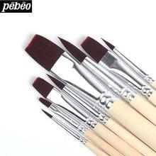 Pebeo – pinceaux de peinture à l'aquarelle, brosse à cheveux, brosse à eau, dessin, peinture à l'huile, Feutre Aquarelle, fournitures d'art pour artiste, 8 pièces