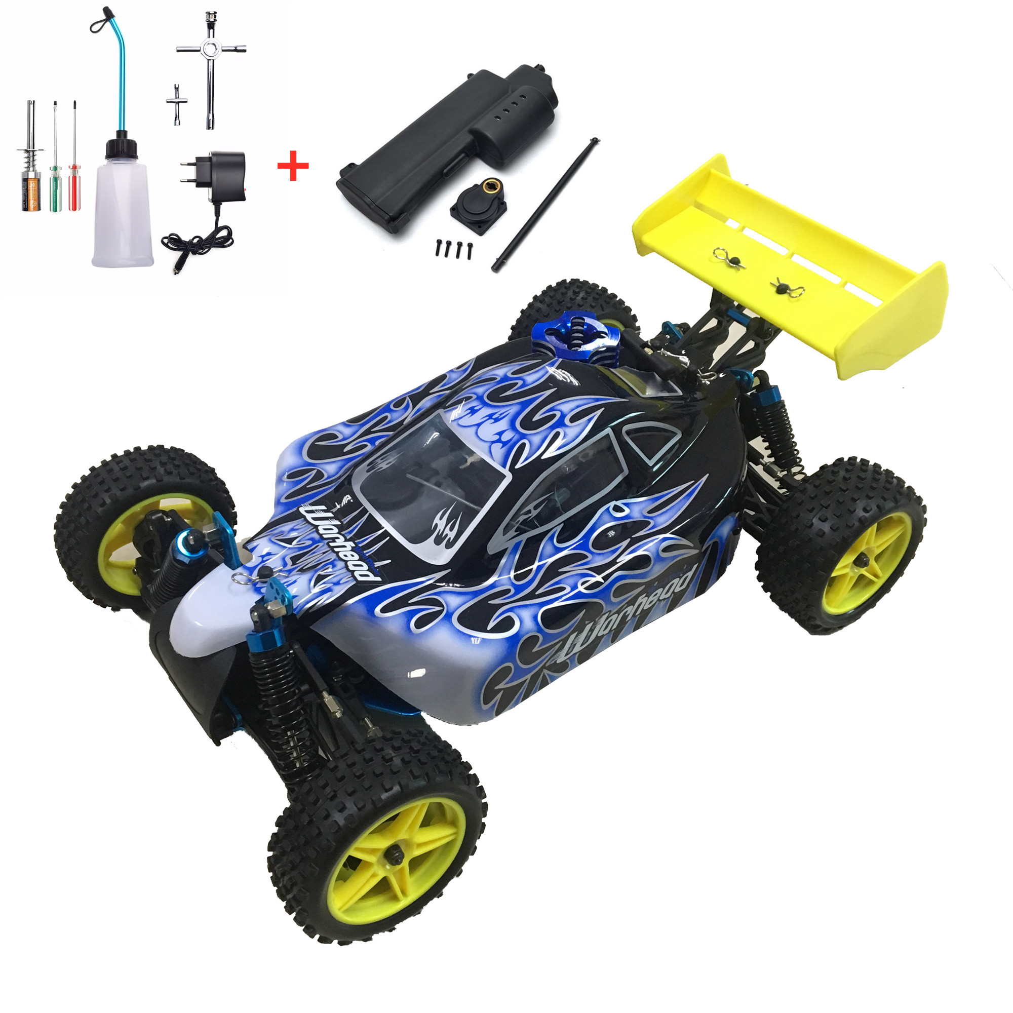 HSP Baja 1/10th Scale Nitro Power Off Road Buggy 4WD RC Hobby Car 94166 With 18cxp Engine 2.4G Radio Control