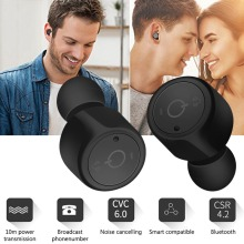 VTIN Hot TWS Wireless Earbuds Double Mini Bluetooth V4.2 Handsfree In Ear Earphones With built-in mic Headset Drop shipping