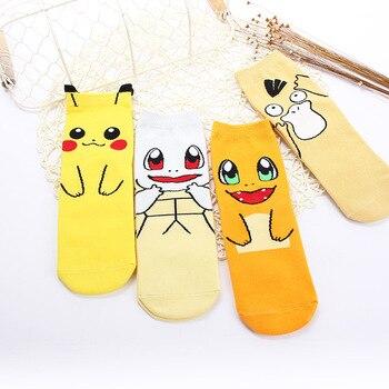Anime Pokemon Pocket Mostro Cosplay Puntelli Caviglia Calzini E Calzettoni Del Fumetto di Kawaii Pikachu Charmander Cotone Calzino Bambino Adulto Calze E Autoreggenti
