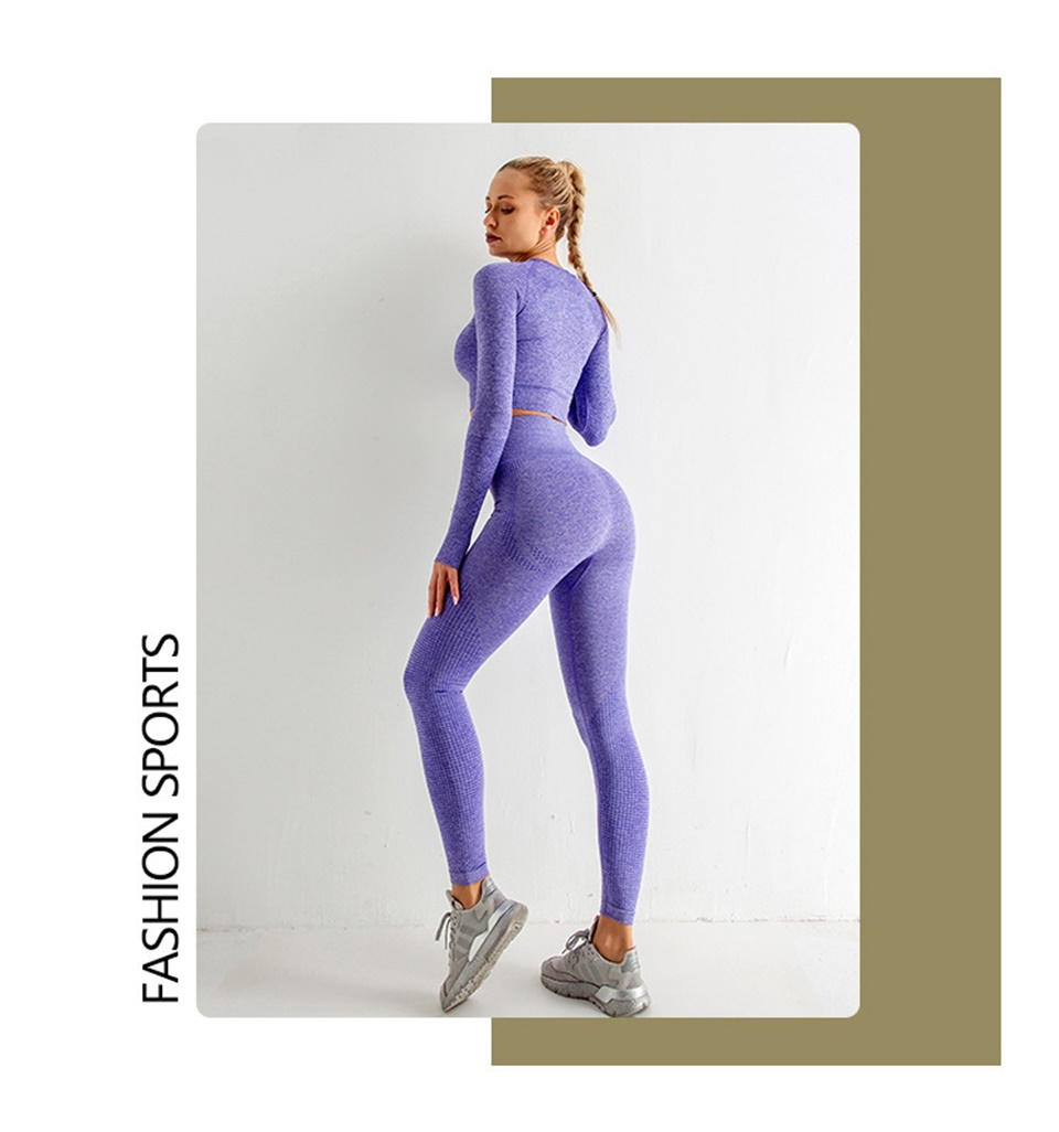 Summer  Seamless Yoga Set Women Gym Fitness Yoga Clothing Sports Wear Female Workout Leggings&Top Yoga Suit Training Tights Wear