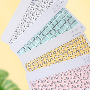 Image 2 - Colorful Russian Spanish Keyboard mouse For Samsung Android Tablet For iPad 9.7 10.5 For samsung tablet Bluetooth mouse Keyboard