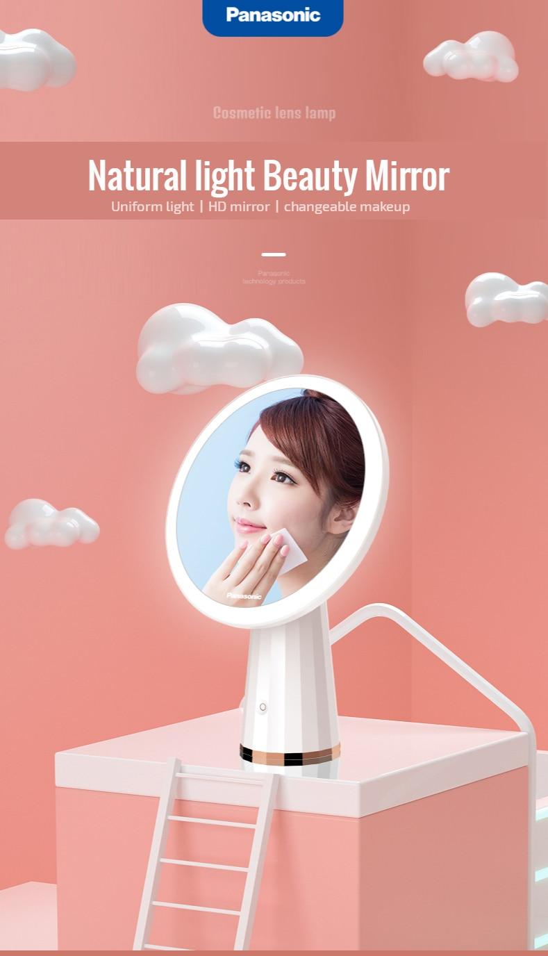 Panasonic  LED Mirror Makeup Mirror with Led Light Vanity Mirrors Rotating Cosmetic Miroir 5X Magnifying Mirrors Light Espejo 5