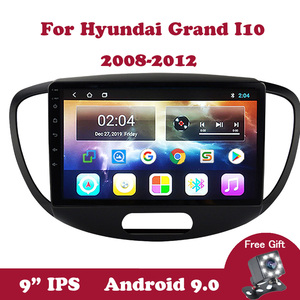 Android 9.0 Multimedia Stereo Player For Hyundai Grand I10 2008 2009 2010 2011 2012 No 2 din Tape Recorder Car Radio GPS Wifi