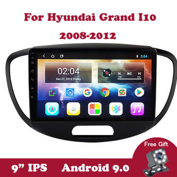 Android 9.0 Multimedia Stereo Player For Hyundai Grand I10 2008 2009 2010 2011 2012 No 2 din Tape Recorder Car Radio GPS Wifi for mazda 6 ruiyi ultra 2008 2009 2010 2011 2012 android unit radio stereo multimedia player 1 2 din dvd gps navigator carplay