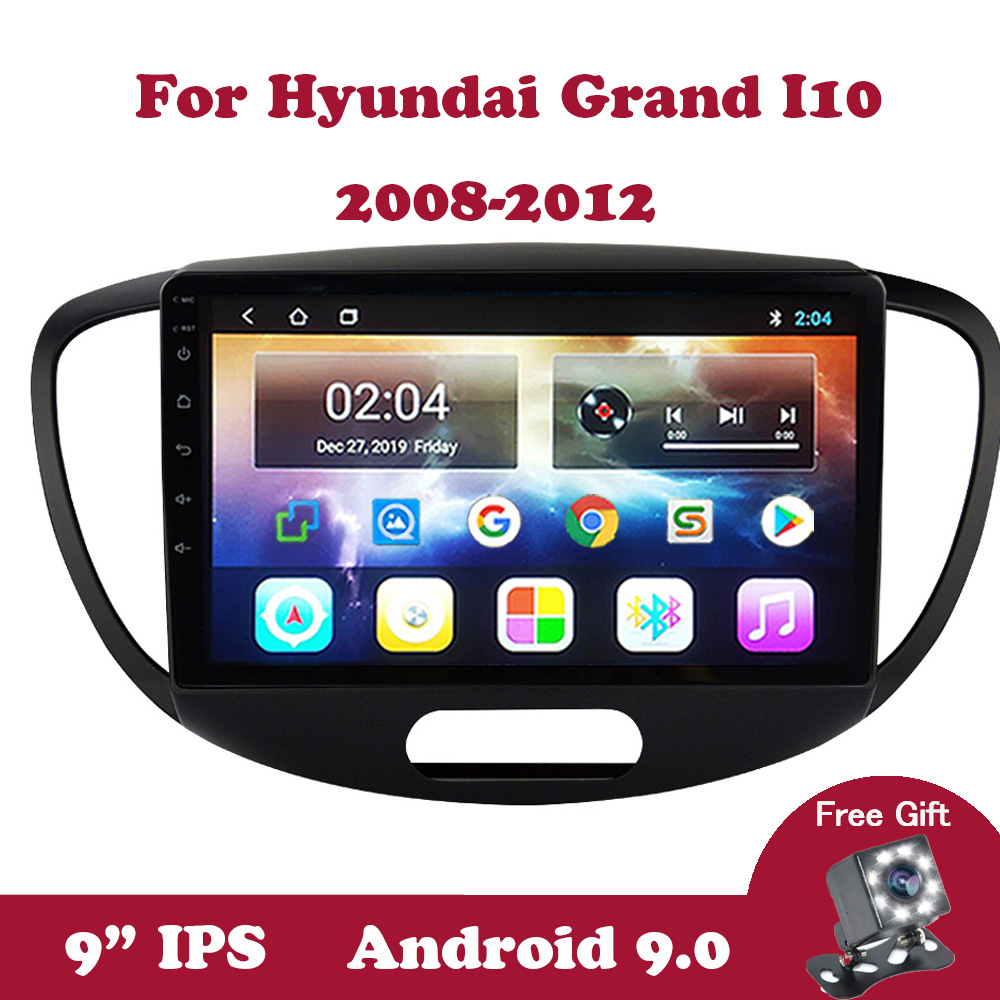 Android 9.0 Multimedia Stereo Player For <font><b>Hyundai</b></font> Grand <font><b>I10</b></font> <font><b>2008</b></font> 2009 2010 2011 2012 No 2 din Tape Recorder Car Radio GPS Wifi image