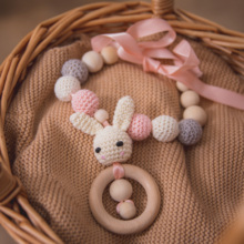 Necklace Nurse-Accessories Teether-Chain Beads Newborn for Crochet Gifts Rabbit Cute