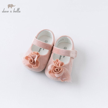 DB15979 Dave Bella autumn baby girls fashion floral appliques first walkers new born girl cute shoes image