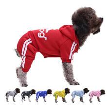 Одежда для собак кошек одежда четыре ноги свитер кнопочного