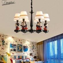 American Cartoon LED Pendant Lamp Modern Childrens Room Superman Lights Bedroom Living Dining Hanging