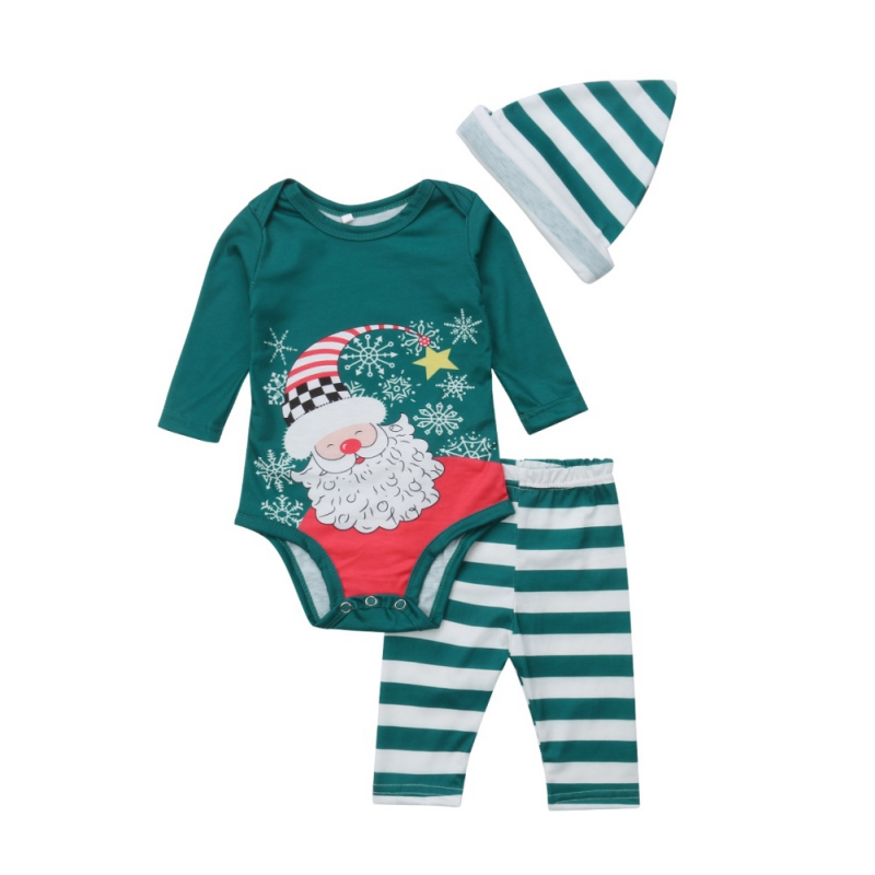 New Children Clothing Christmas Family Parent-child Hat Suit Printing Home Service Cotton Soft Two-piece Pajamas