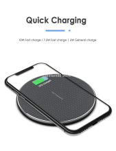 Qi Fast Wireless Charger Dock for iPhone X 8 plus XR XS Samsung S8 S9 plus UK