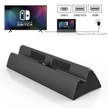 Jelly Comb estación de acoplamiento para Nintendo Switch, puerto USB 3,0 2,0, soporte de cargador tipo C a HDMI TV 4K, convertidor de vídeo