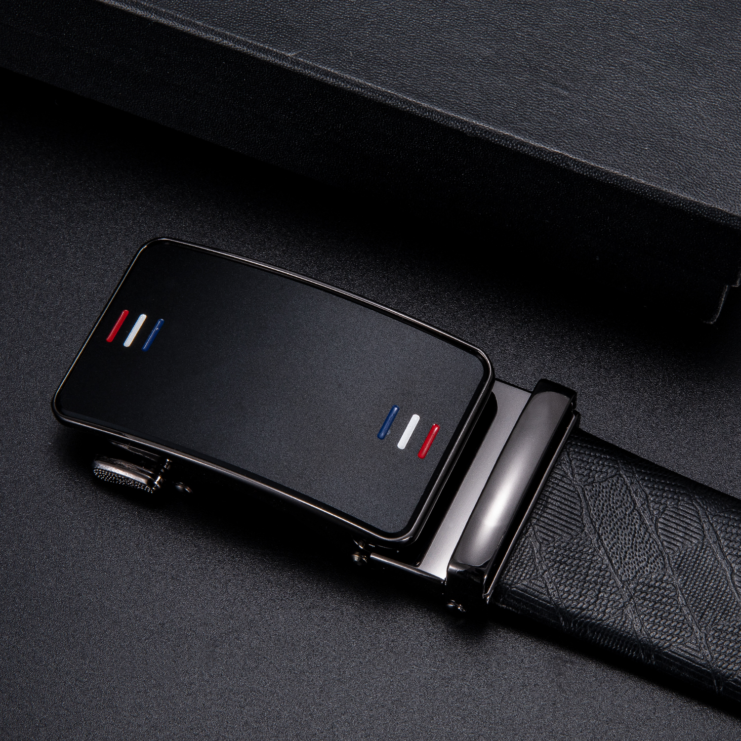 Fashion Men's Business Alloy Automatic Buckle Unique Men Black Belt Buckles For 3.5cm Ratchet Men Apparel Accessories