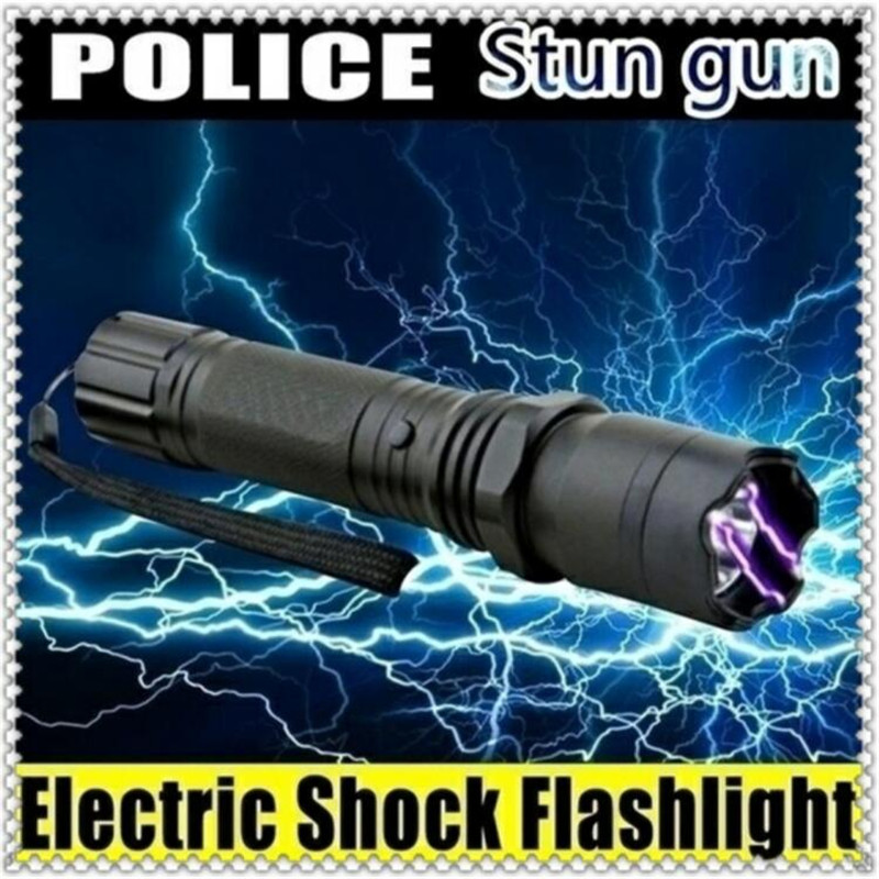 3 In 1 Self-defense Portable Travel Lighting Electric Shock Flashlight Emergency Rechargable Flashlight