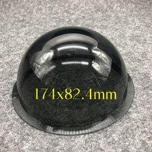 6.2 inç dış koyu gri akrilik Dome kamera lensi konut şeffaf kapak değiştirme açık su geçirmez Dome kasa 174x82.4mm