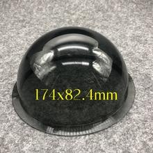 6.2 بوصة الخارجي رمادي داكن قبة أكريليك عدسة الكاميرا الإسكان غطاء شفاف استبدال في الهواء الطلق مقاوم للماء قبة الحال 174x82.4 مللي متر