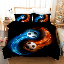 Lanke Football Bed Sets 3D Bedding Duvet cover Pillowcases Twin Full Queen King Size Kits