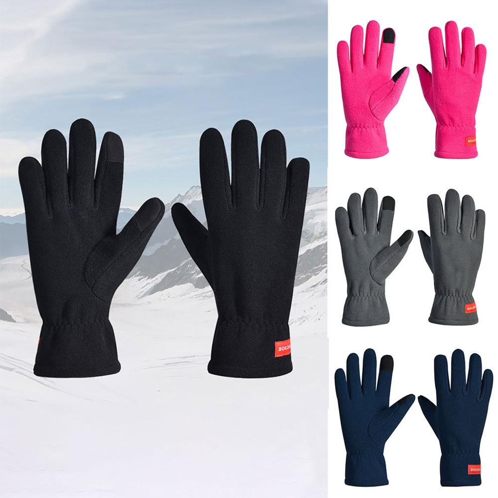 Winter Unisex Warm Gloves Non-slip Breathable Long Finger Touch Screen Warm Snowboard Gloves Guantes De Nieve Para Mujer 20O28