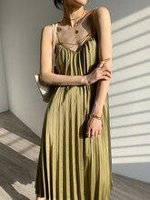HECATE SA – robe longue plissée à bandes, vintage, boho, épaules dénudées, bustier, dos nu, été
