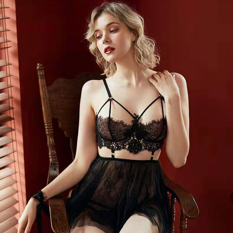 Сексуальный мусс с открытой спиной, женская одежда для сна, ночные платья с тонгами, наборы, v-образный вырез, кружево, элегантная кукла Тедди... 11