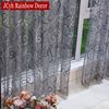 Silver Solid Embroidered Curtains 5