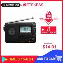 RETEKESS V115 Radio AM FM SW Radio tascabile altoparlante FM a onde corte supporto TF Card registratore USB tempo di sonno