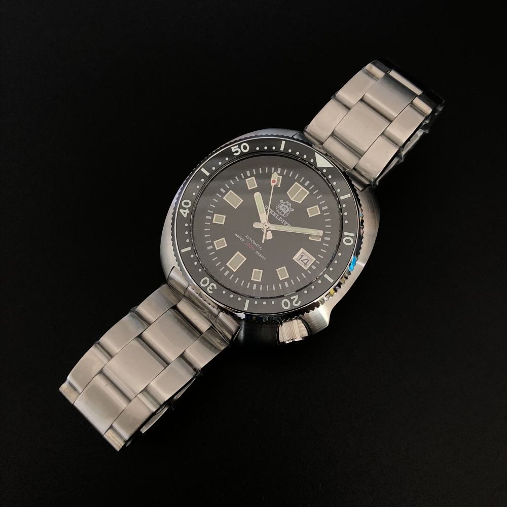 SD1970 Steeldive Brand 44MM Men NH35 Dive Watch with Ceramic Bezel(China)