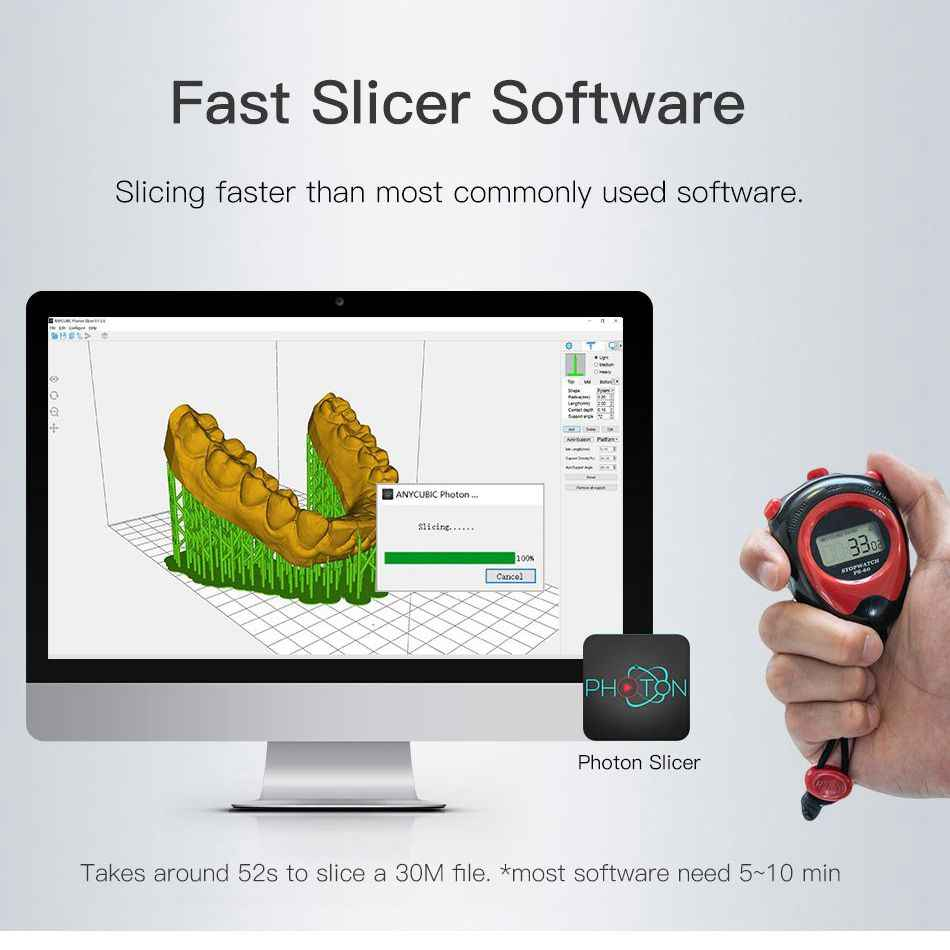 Impresora 3D ANYCUBIC Photon SLA de resina UV 2K LCD impresoras 3D fuera de línea Impresora 3d drucker Kit de Impresora