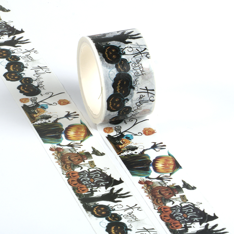 Happy All Saints Day Series Masking Washi Tape Decorative Adhesive Tape Decora Diy Scrapbooking Sticker Label Stationery