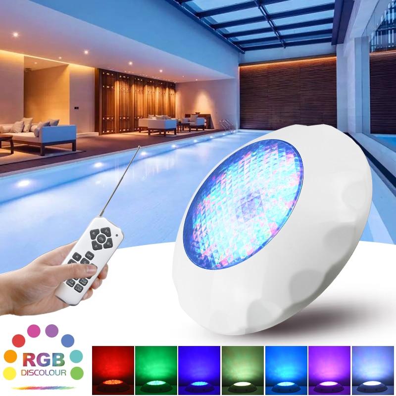 ABS светодиодный светильник для бассейна IP68 водонепроницаемый светильник ing Подводные лампы AC12V настенные лампы погружной RGB светильник с ди...