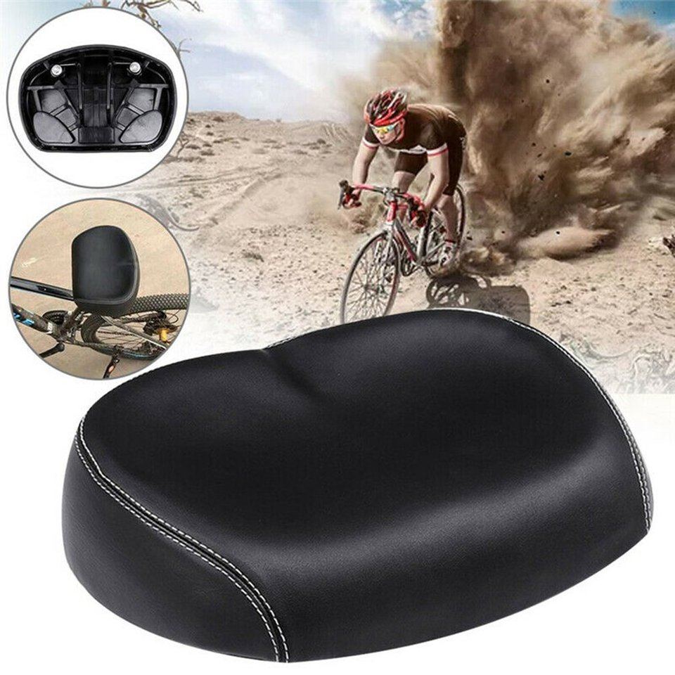 Noseless Shape Wide Bicycle Seat Mountain Bike Saddle Breathable Saddle Cushion