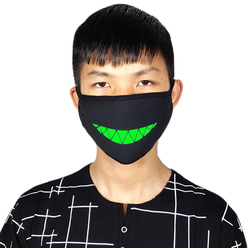 1Pc Cotton Anti-Dust Face Mouth Mask Fluorescent Earloop Fashion Windproof Cover DXAA