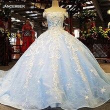 LS00385 vestidos de noche temáticos carnaval celeste hombro luz en el vestido de fiesta de la India
