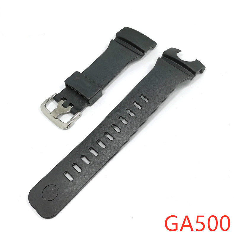 Silicone Watch Strap For Casio <font><b>G</b></font> <font><b>Shock</b></font> GA500 Replacement Black Sports Waterproof Rubber Watch Belts <font><b>Watchband</b></font> Accessories image