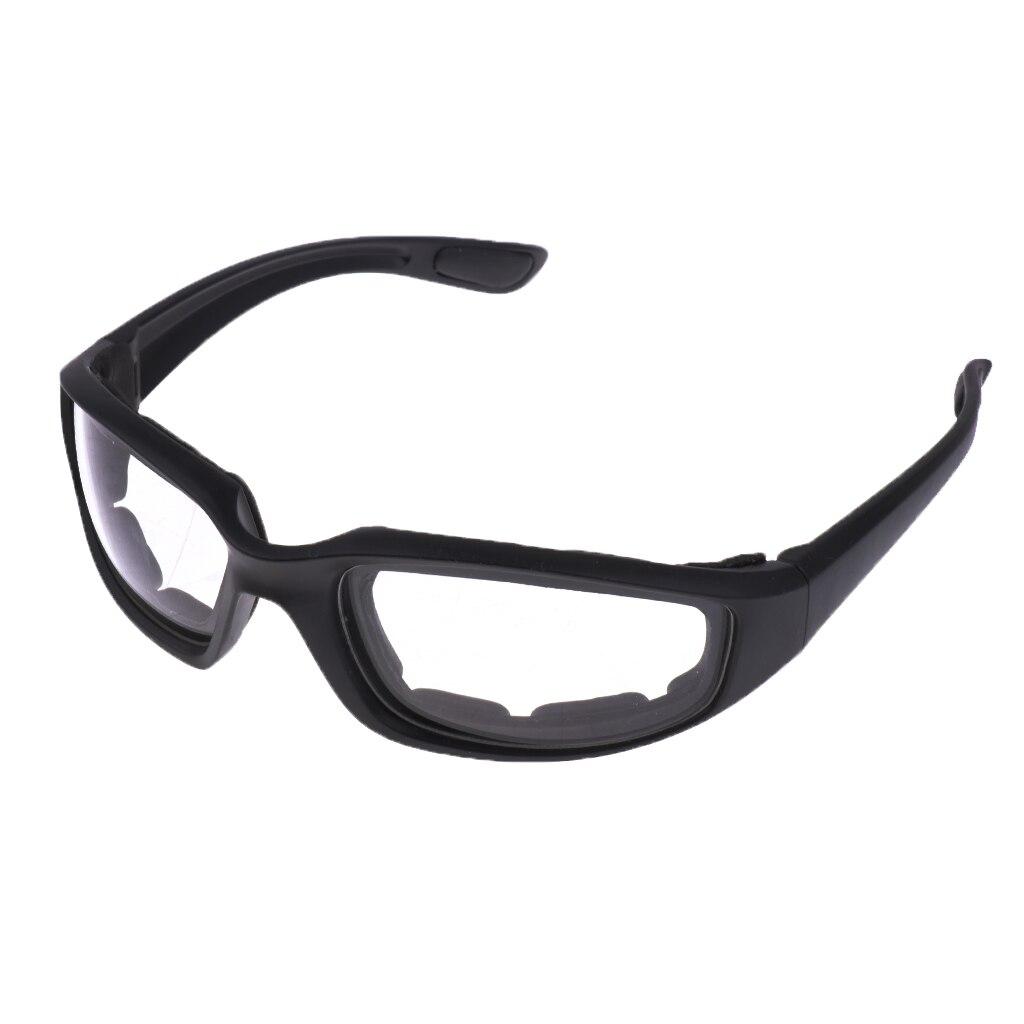 Chopper yastıklı rüzgara dayanıklı güneş gözlüğü motosiklet binme gözlükleri temizle