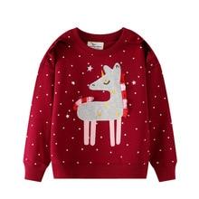 Children Unicorn Hoodies Sweater Toddler Star Baby Fashion Warm Winter Girls Long-Sleeve