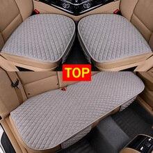 Льняная ткань сиденья четыре сезона спереди и сзади лен подушки дышащий протектор коврики Pad Авто аксессуары универсальный размер