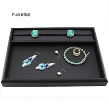Portable pu  Velvet Jewelry Display Set Travel Roll Bag Earrings Ring Necklace Display Tray Stand Organizer Box Case Display цена и фото