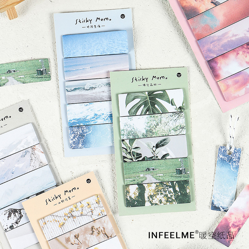 Cloud Collection Green Forest Snow Poet Memo Pad N Times Sticky Notes Escolar Papelaria School Supply Bookmark Label