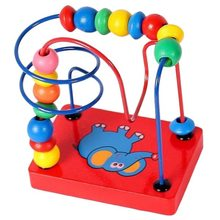 Puzzle early education Beads Toys Wooden Colorful Educational Toy Game Toy elephant Puzzle for Baby Child Beads Toy цена в Москве и Питере