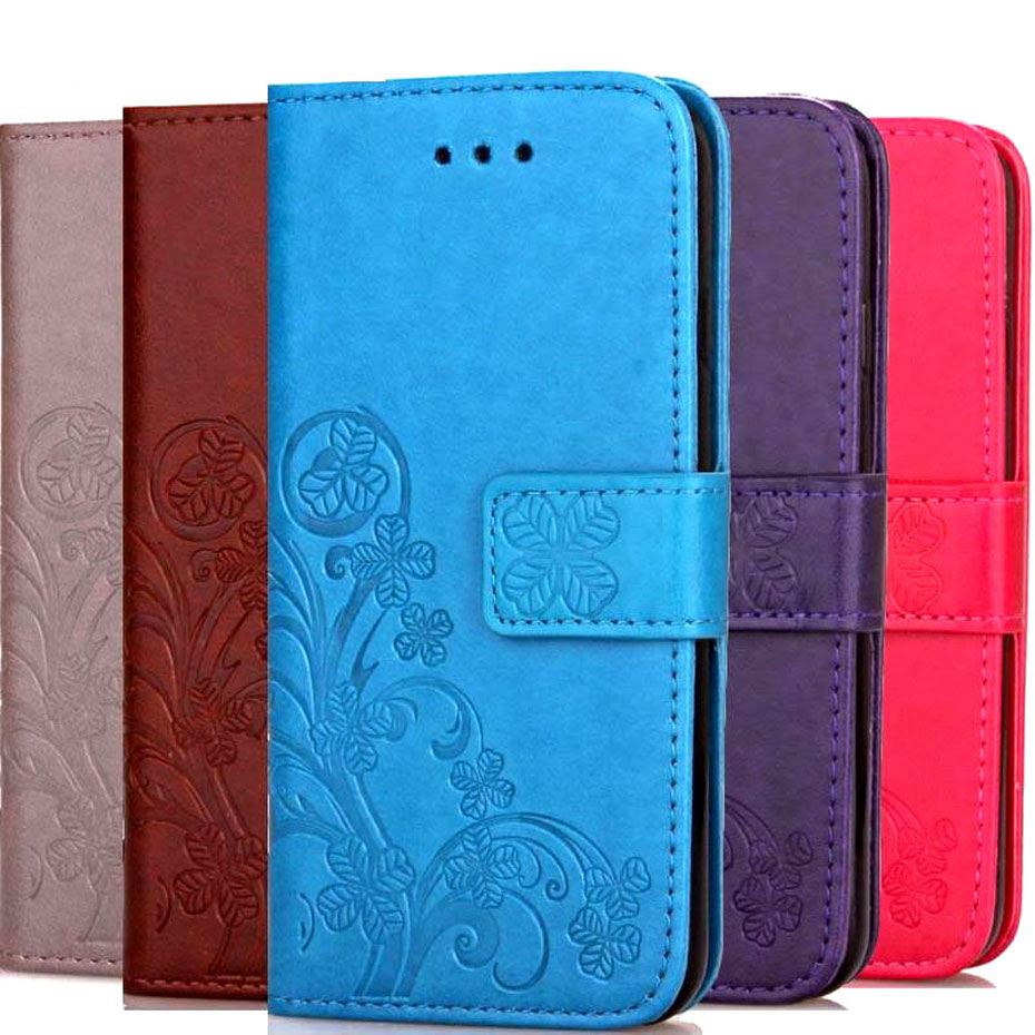 <font><b>L3</b></font> Luxury Clover 3D Emboss <font><b>Case</b></font> For <font><b>Sony</b></font> <font><b>Xperia</b></font> <font><b>L3</b></font> Flip Emboss Leather <font><b>Case</b></font> for <font><b>Sony</b></font> <font><b>Xperia</b></font> <font><b>L3</b></font> <font><b>Case</b></font> Protective Cover image