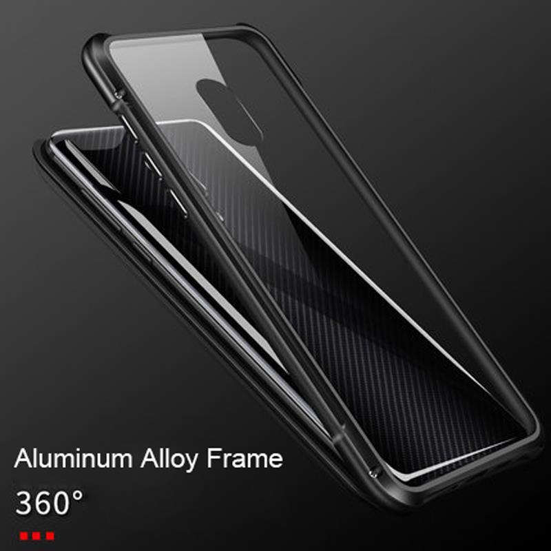 Image 3 - Di lusso Magnetica Adsorbimento per il Caso di Lenovo Z5 Pro copertura In Vetro Temperato Del Respingente Del Metallo Della Cassa Antiurto per Lenovo Z5 Pro GT coperturaParacolpi per telefono   -