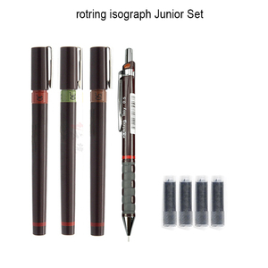 Image 4 - Rotring Master /Junior Isograph refilled ink porous point pen drawing tools set