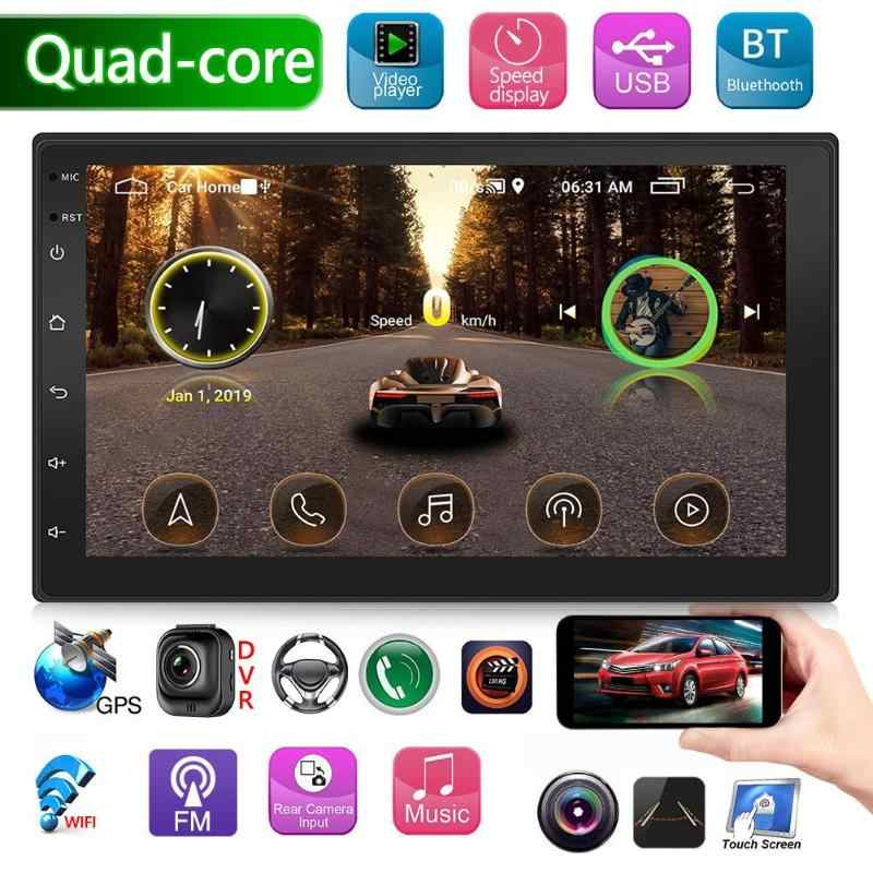 9218S Dubbele 2 Din Quad Core Android Autoradio 7 Inch Bluetooth Gps Navigatie Wifi Usb Radio Head Unit rijden Speed Display