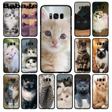 Babaite Cat looks at you Phone Case for Samsung Galaxy S10E S7 Edge S9 S8 S10plus S6 S10Lite(China)